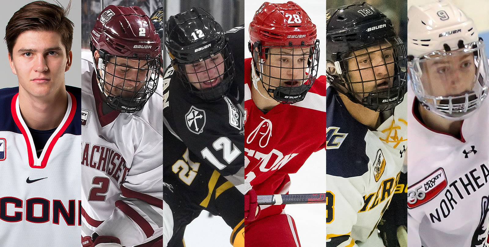 Hockey East Names 2018 19 Pro Ambitions All Rookie Team Hockey